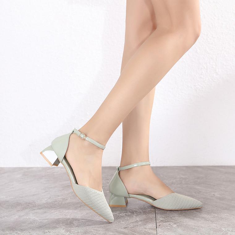 Noelle Grey Heels