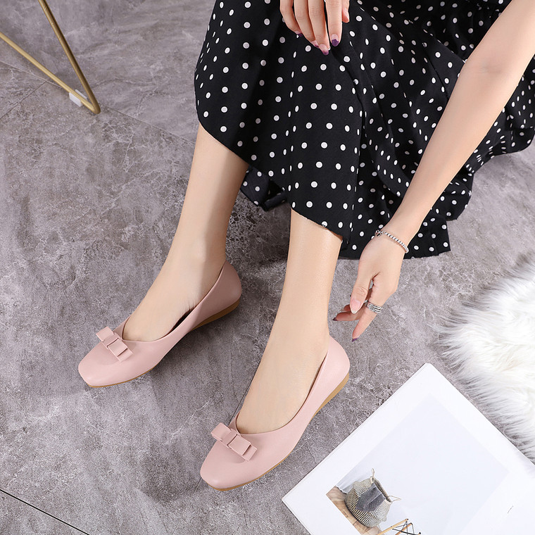 Mary Pink Flats