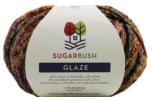 Sugar Bush Yarns Glaze Cotton-Acrylic-Metallized Polyester Yarn
