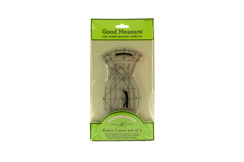 Good Measure Low Shank Quilting Template by Amanda Murphy Every Curve set of 3