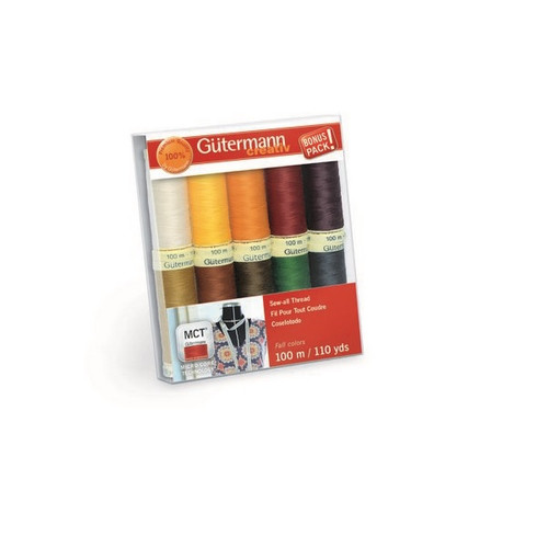 Gutermann Creativ Sew-All Thread Set - Fall - 10 Spools 110 yds