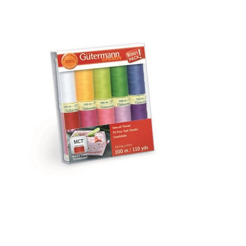 Gutermann Creativ Sew-All Thread Set - Spring Colors - 10 Spools 110 yds