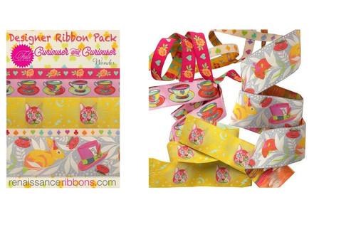 Tula Pink Curiouser & Curiouser Wonder Designer Renaissance Ribbon Pack