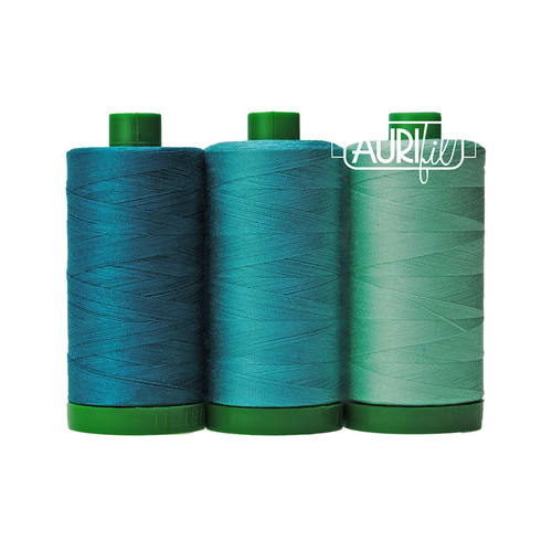 Aurifil Color Builder - BLUE-THROATED MACAW