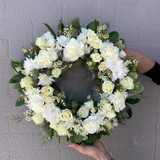 Send a White Funeral Wreath in Sydney - Funeral Flowers Sydney