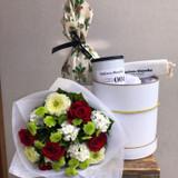 Christmas gift flower basket