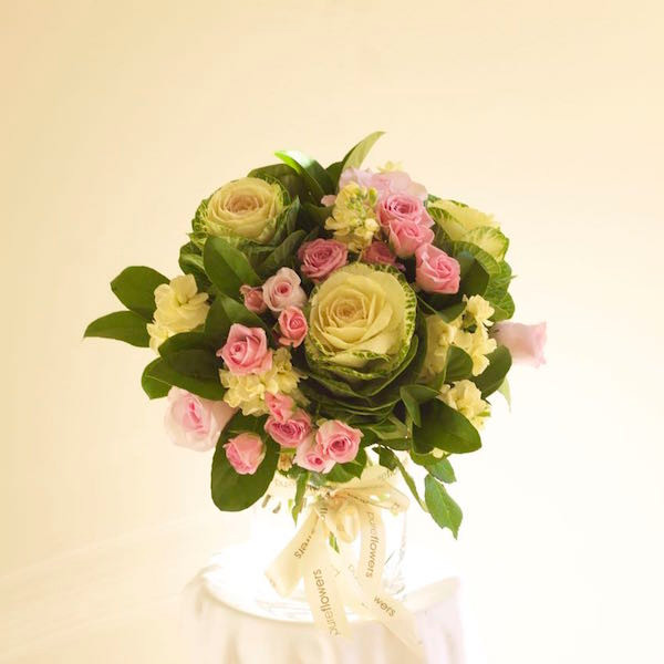 Pastel florals in a vase