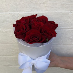 Valentines luxe red rose box