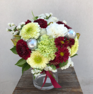 Christmas florals in a vase