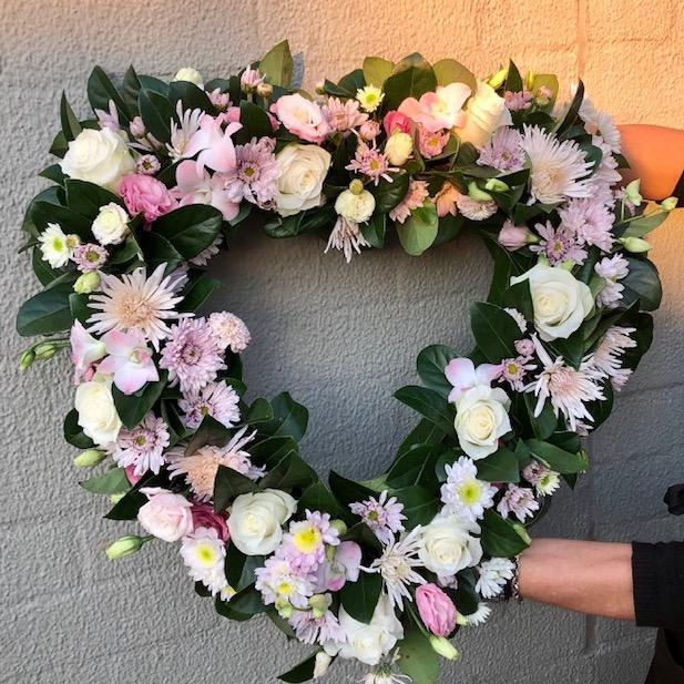 Send Heart Funeral Wreath in Sydney - Funeral Flowers Sydney