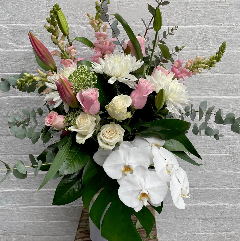 Pink Diamond Vase Arrangement