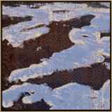 Picture of Snow Field by Rose Freeland with frame