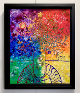 Spring Has Sprung by Natalie Wetzel on display with frame