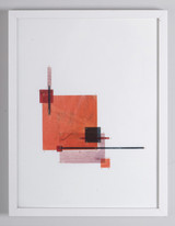 Picture of Dark Orange, Red, Black, Light Pink by Capucine Boucart with frame