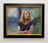 Picture of Attitude by Lisa Fricker framed on display at 3 Square Art's Figure That! 2021 Exhibition