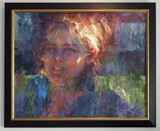 Hard Won by Lisa Fricker displayed with frame on wall