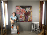 Picture of Glance at Writing by Clint Eccher in studio with artist