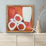 Picture of Un Dot by Bernadette Youngquist with frame in a room