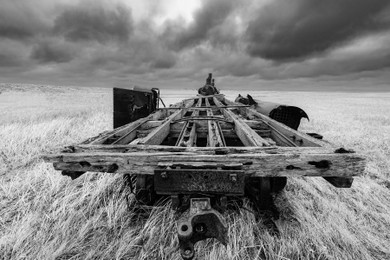 Flat Car Towed to Nowhere by Bruce Herman