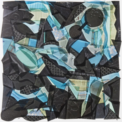 Black with Touches of Blue and Green by Capucine Boucart