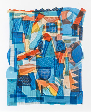 Blue with Touches of Yellow and Orange by Capucine Boucart