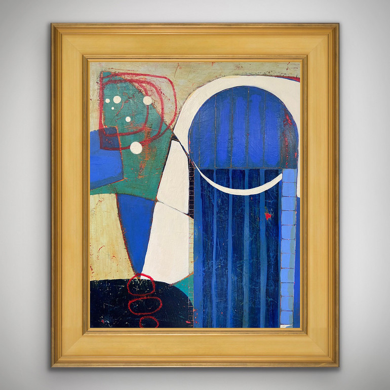 Picture of Door To My Soul by Bernadette Youngquist with frame