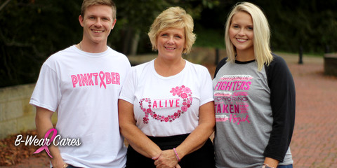 HELP B-WEAR HONOR BREAST CANCER SURVIVORS AND FIGHTERS THROUGHOUT OCTOBER