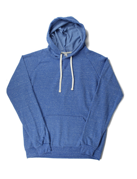 Plain Pullover Premium Hooded Sweatshirt (Royal Snow Heather)