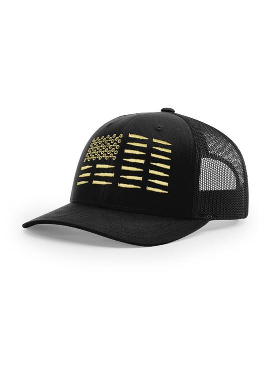 Bullet Flag Richardson 112 Trucker Cap (Black)