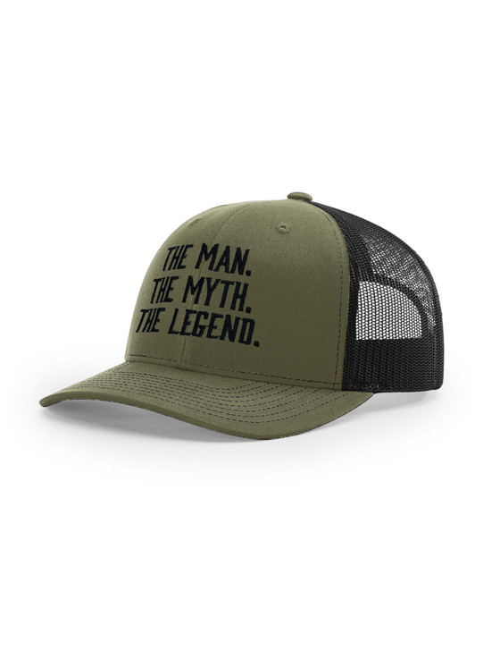 The Man, The Myth, The Legend Richardson 112 Trucker Cap (Black)
