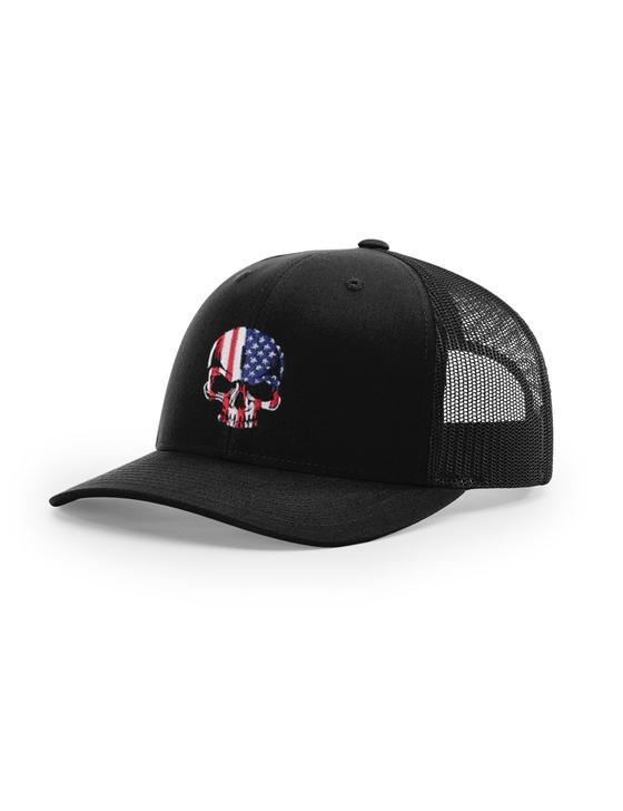 Freedom Skull Richardson 112 Trucker Cap (Black)