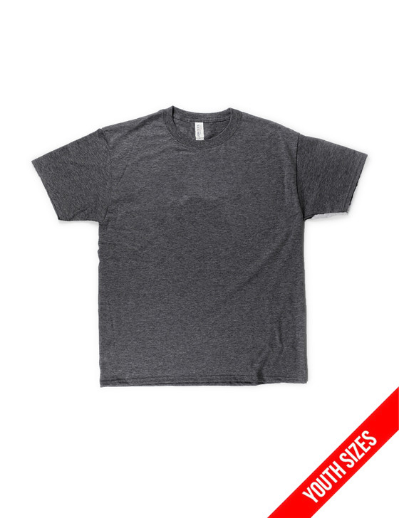 Plain Youth Short Sleeve Classic Tee (Black Heather)