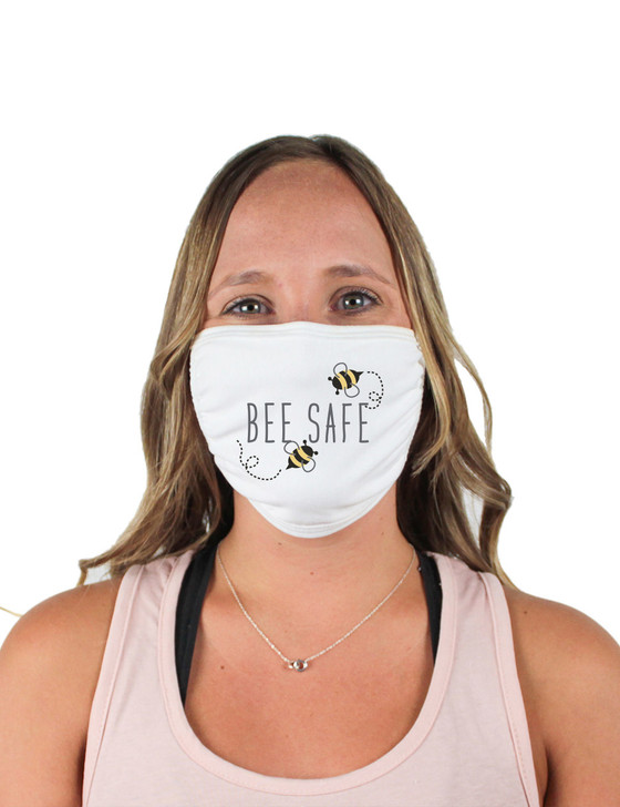 Bee Safe Cloth Face Covering (White)