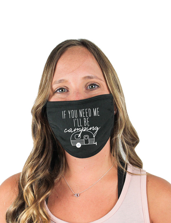 Camping Cloth Face Covering (Black)