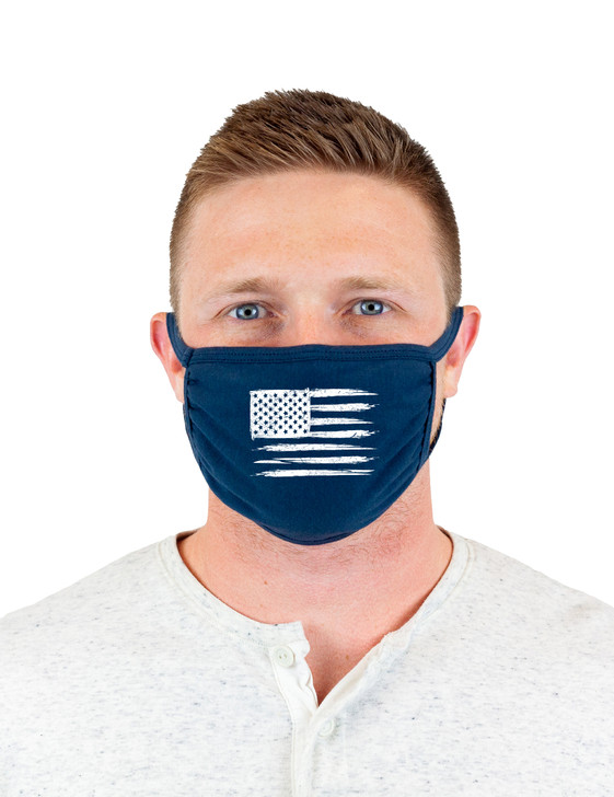 Flag Cloth Face Covering (Navy)