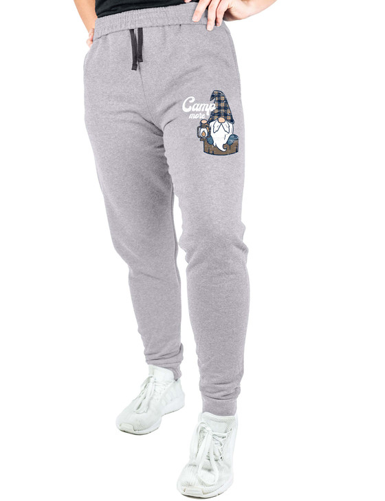 Camp More Camping Gnome Pocketed Sweatpants (Black Heather)