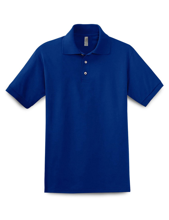 Plain Short Sleeve Ringspun Cotton Polo (Royal)