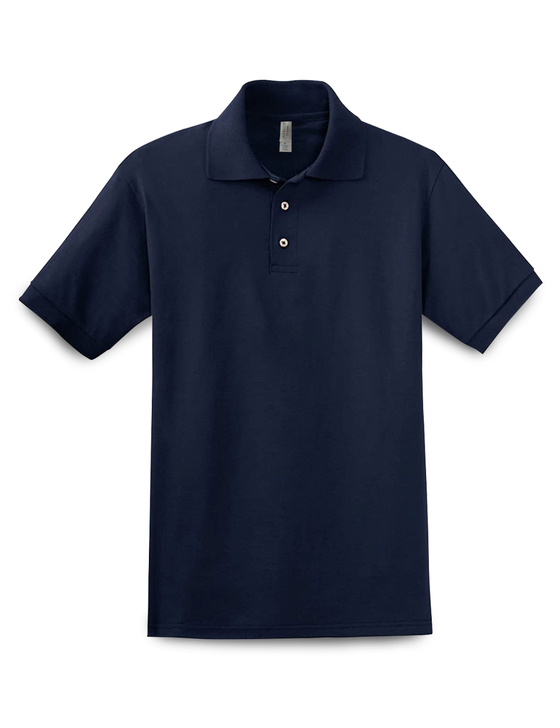 Plain Short Sleeve Ringspun Cotton Polo (Navy)