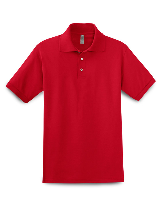 Plain Short Sleeve Ringspun Cotton Polo (True Red)