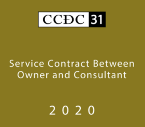 CCDC 31 Service Contract between owner and consultant - electronic copy for purchase.