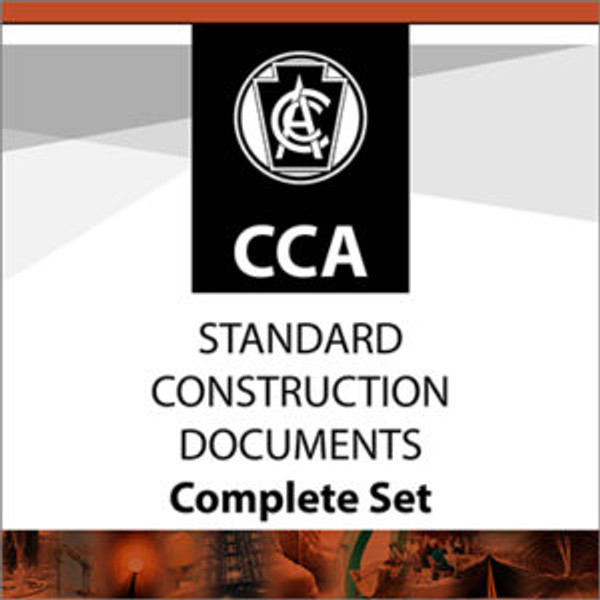 Complete electronic set of CCA CCDC Standard Construction Documents