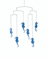 Flensted Seahorse Mobile in Blue