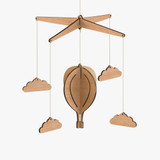 Byrne Woodware Hot Air Balloon Baby Mobile