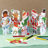 Petit Collage Holiday Fun Paper Doll Chain