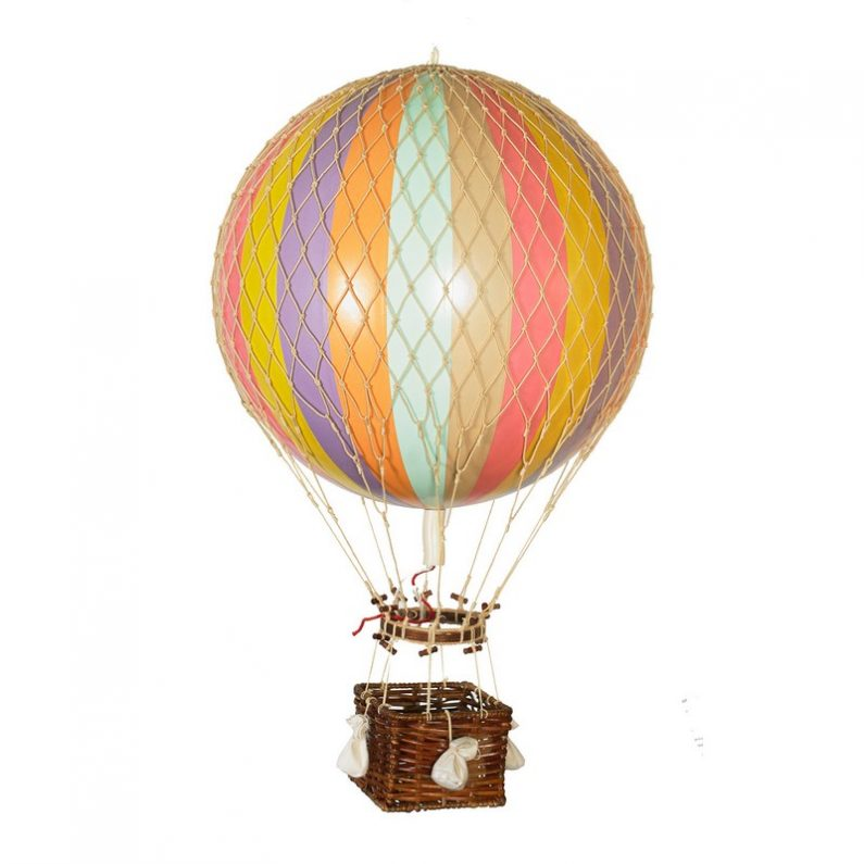 Royal Aero Hot-Air Balloon Pastel Rainbow