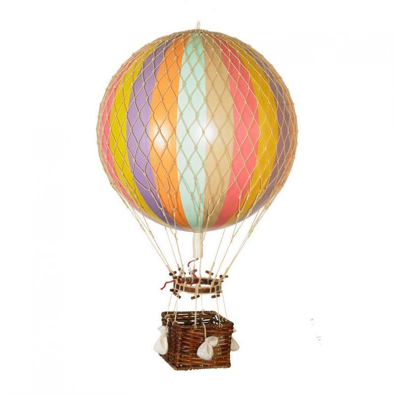 Royal Aero Hot-Air Balloon Pastel Rainbow