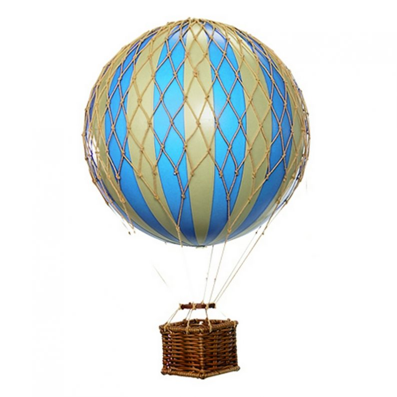 Floating the Skies Hot-Air Balloon Blue