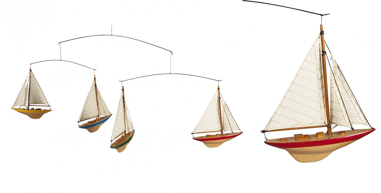 Authentic Models Sailboats Mobile