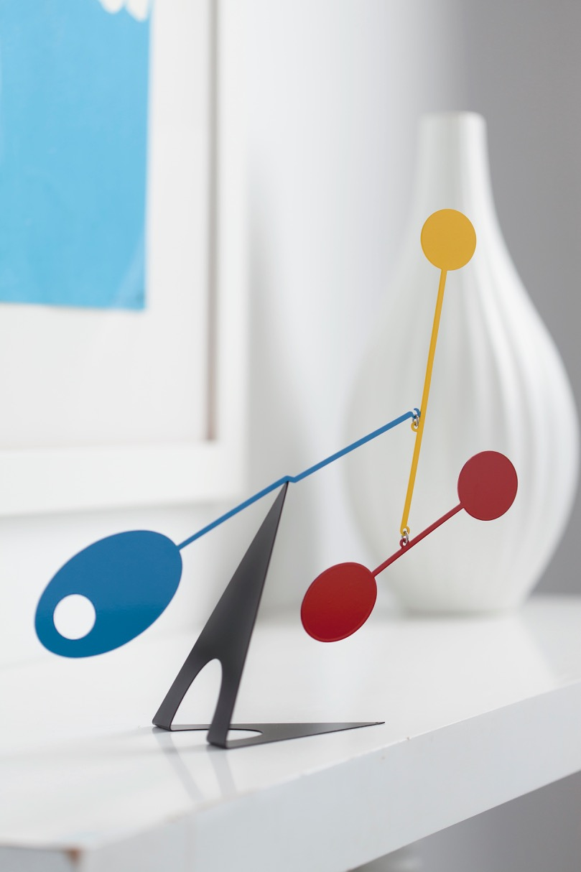 Ekko Workshop Elliptical Desktop Mobile in Blue, Red, and Yellow