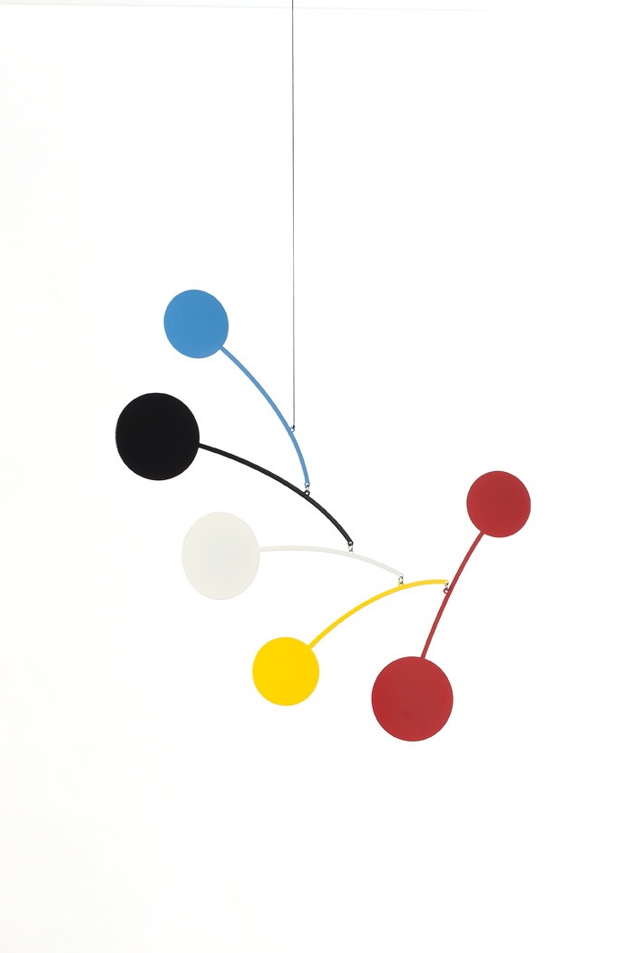 Ekko Workshop Circle Series Mobile in Blue, Black, White, Yellow, and Red